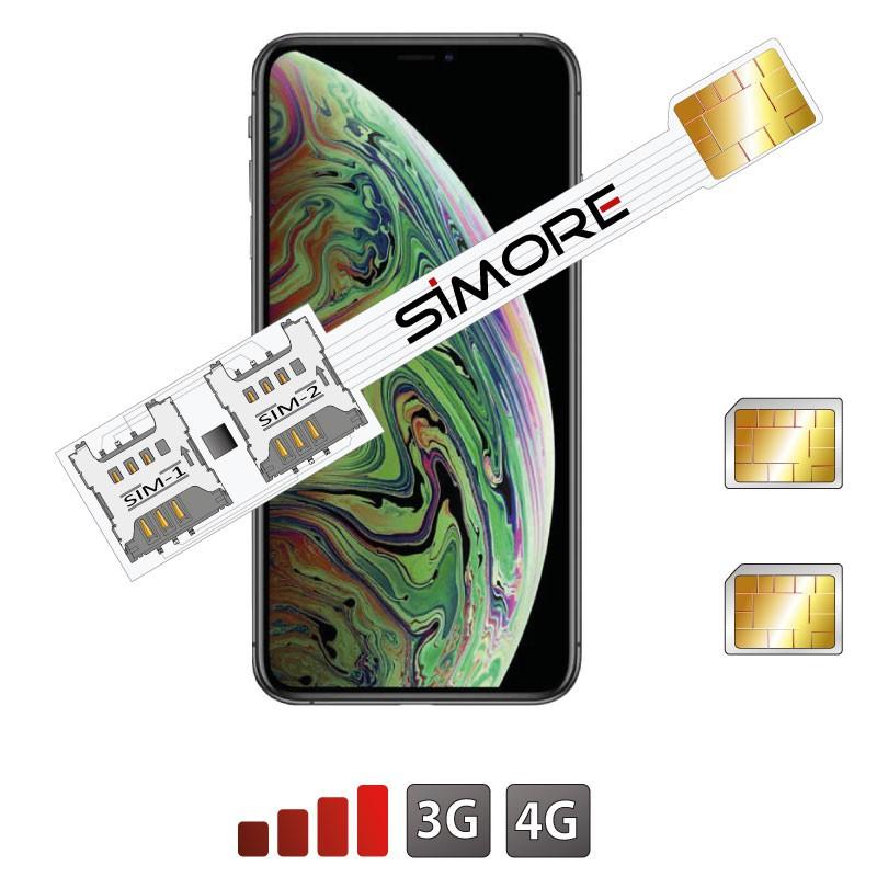 iPhone XS Max Doppia SIM custodia Adattatore 4G Speed Xi-Twin XS Max per iPhone XS Max