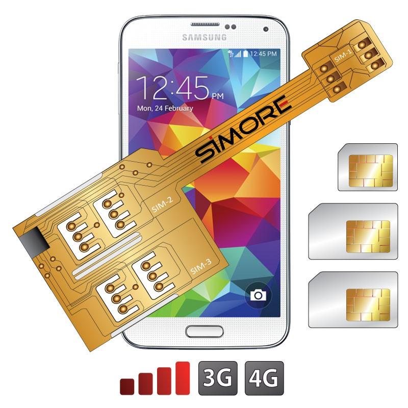 X-Triple Galaxy S5 Adattatore triple dual SIM per Samsung Galaxy S5