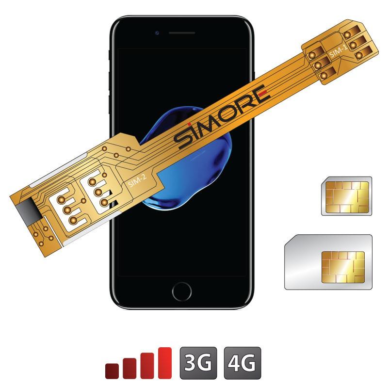 X-Twin 7 Adattatore doppia scheda SIM per iPhone 7
