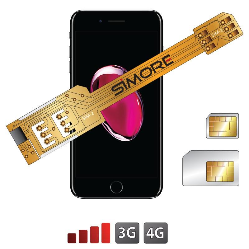 X-Twin 7 Plus Adattatore doppia scheda SIM per iPhone 7 Plus