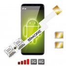 Android Dual SIM Adattatore 4G Speed ZX-Twin Nano SIM