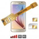 X-Twin Galaxy S6 Adattatore doppia scheda SIM per Samsung Galaxy S6