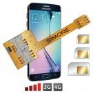 X-Triple Galaxy S6 Edge Adattatore triple dual SIM per Samsung Galaxy S6 Edge