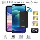 Doppia SIM iPhone Bluetooth Adattatore con due numeri attive simultaneamente E-Clips Gold
