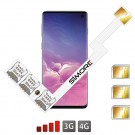 Galaxy S10 Adattatore Tripla Dual SIM Android per Samsung Galaxy S10