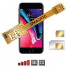 iPhone 8 Doppia SIM adattatore 3G 4G SIMore X-Twin 8