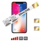 iPhone X Doppia SIM adattatore 3G - 4G Speed X-Twin X per iPhone X