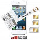 WX-Triple 5S Custodia Adattatore Tripla dual SIM per iPhone 5 e 5S