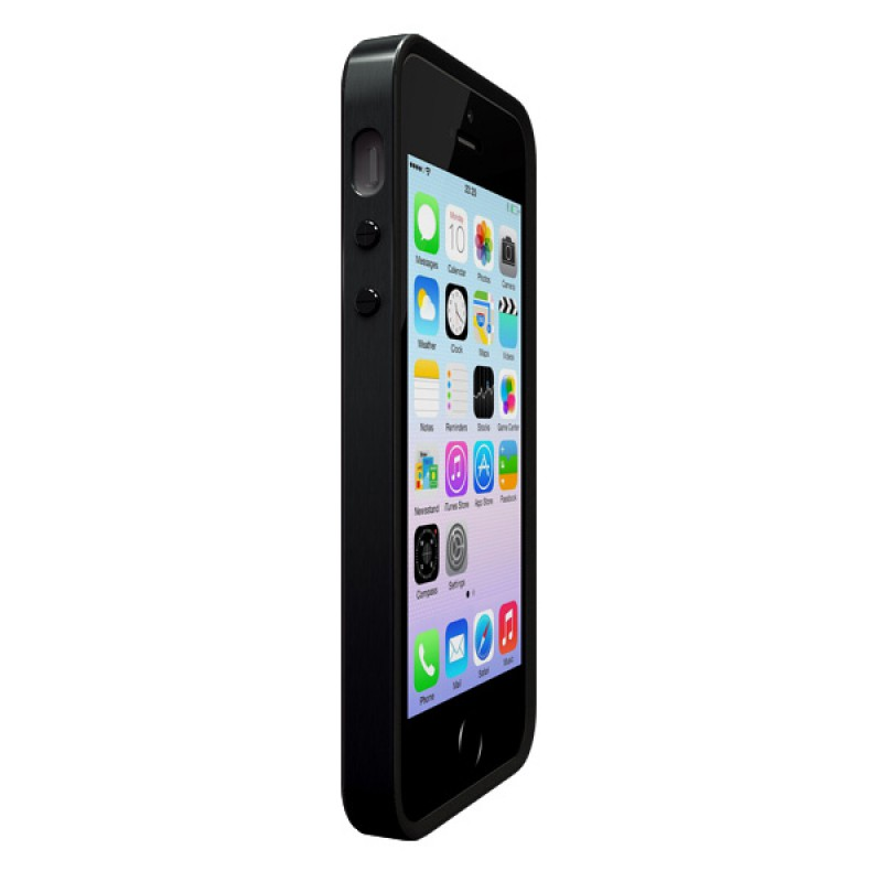 Protective case outline and screen for iPhone SE, iPhone 5 and iPhone 5S - Alloy X Mono Jet Black