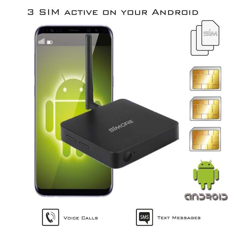 Doble SIM activas adaptador 4G router transformador para Android móvil DualSIM@home 4G Android