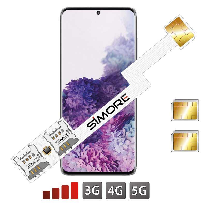 DUAL SIM Adaptador para Galaxy S20+ Samsung