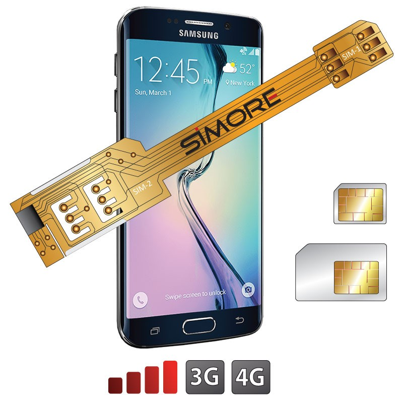 X-Twin Galaxy S6 Edge Adaptador doble tarjeta SIM para Samsung Galaxy S6 Edge