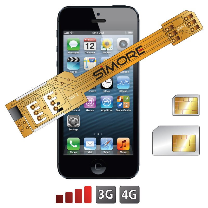 X-Twin 5 Adaptador doble tarjeta SIM para iPhone 5