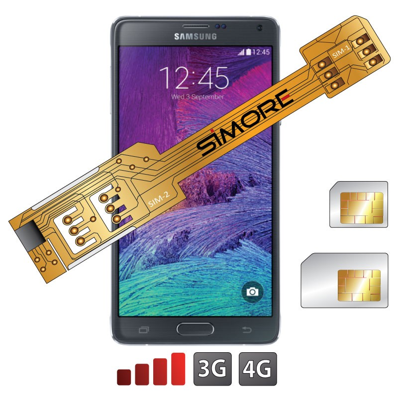X-Twin Galaxy Note 4 Adaptador doble tarjeta SIM para Samsung Galaxy Note 4