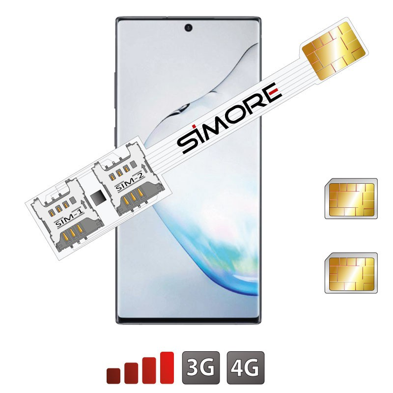 Doble SIM para Galaxy Note 10 Adaptador SIMore Speed Xi-Twin Note 10