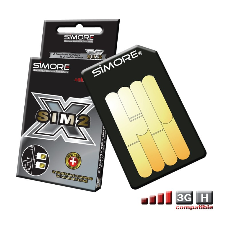 DualSim Platinum Adaptador doble tarjeta SIM para móviles 3G