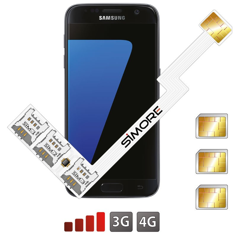 Galaxy S7 Adaptador Triple Doble SIM Android para Samsung Galaxy S7