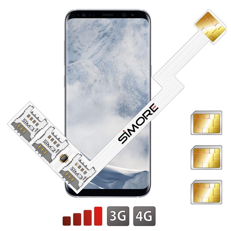 Galaxy S8+ Adaptador Triple Dual SIM Android para Samsung Galaxy S8+