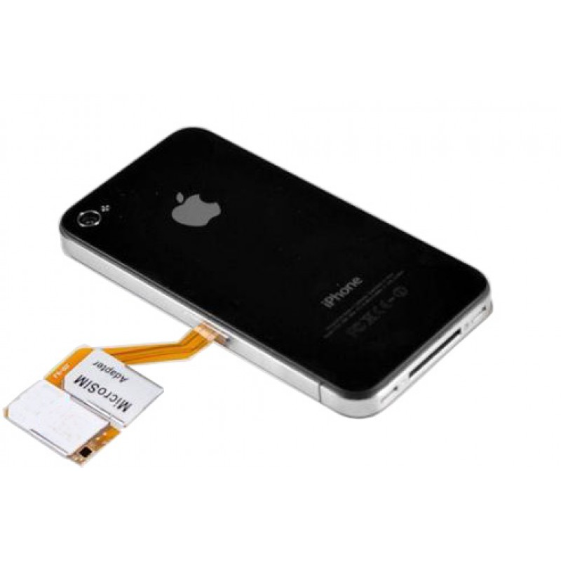 Triple sim adapter Adaptador con caso de protecciòn iPhone 4 / 4S