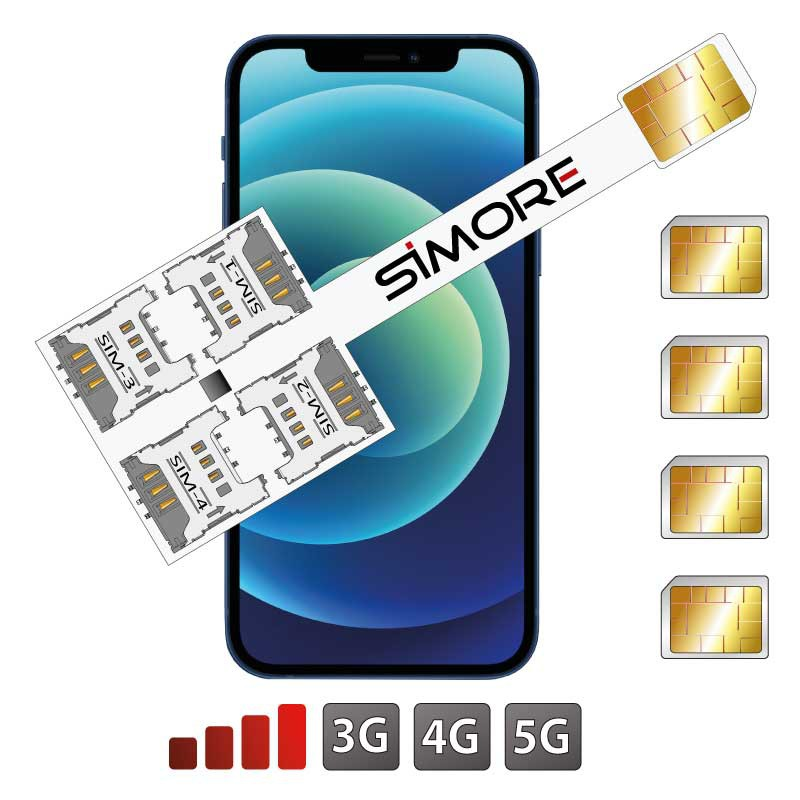 iPhone 12 Cuádruple SIM Adaptador SIMore