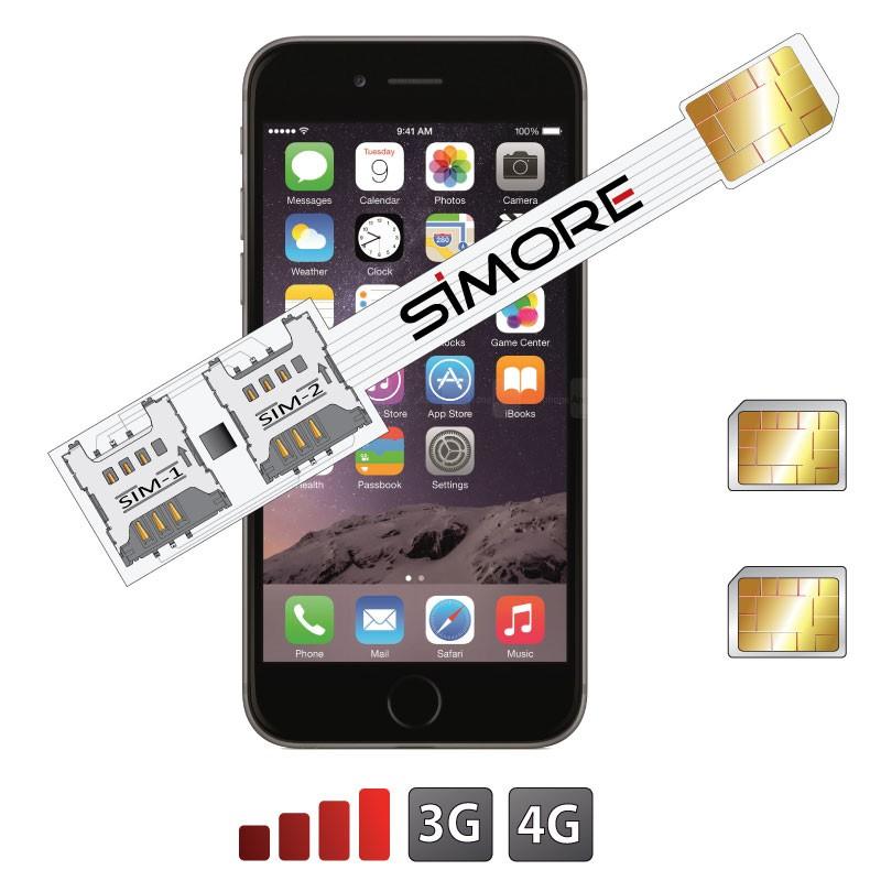 iPhone 6 Plus Doble SIM adaptador Speed X-Twin 6 Plus para iPhone 6 Plus