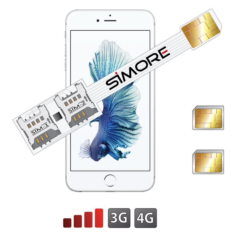 iPhone 6S Doble SIM adaptador Speed X-Twin 6S para iPhone 6S