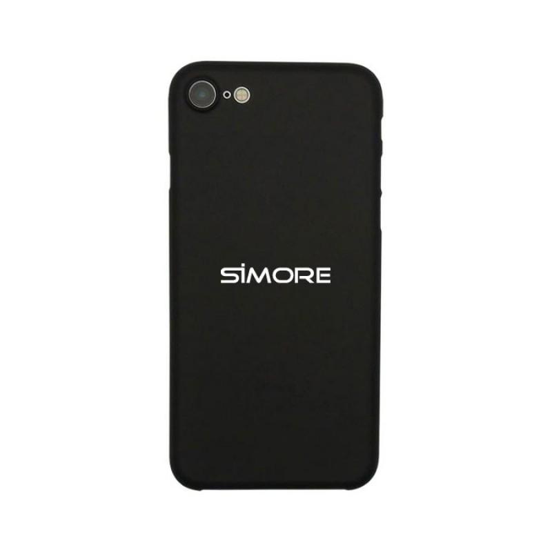 iPhone SE 2020 Funda de protección negra SIMore