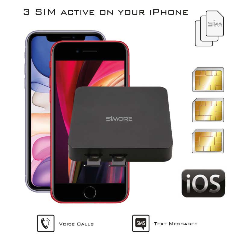 iPhone Doble SIM Activas Adaptador simultáneamente router convertidor DualSIM@home