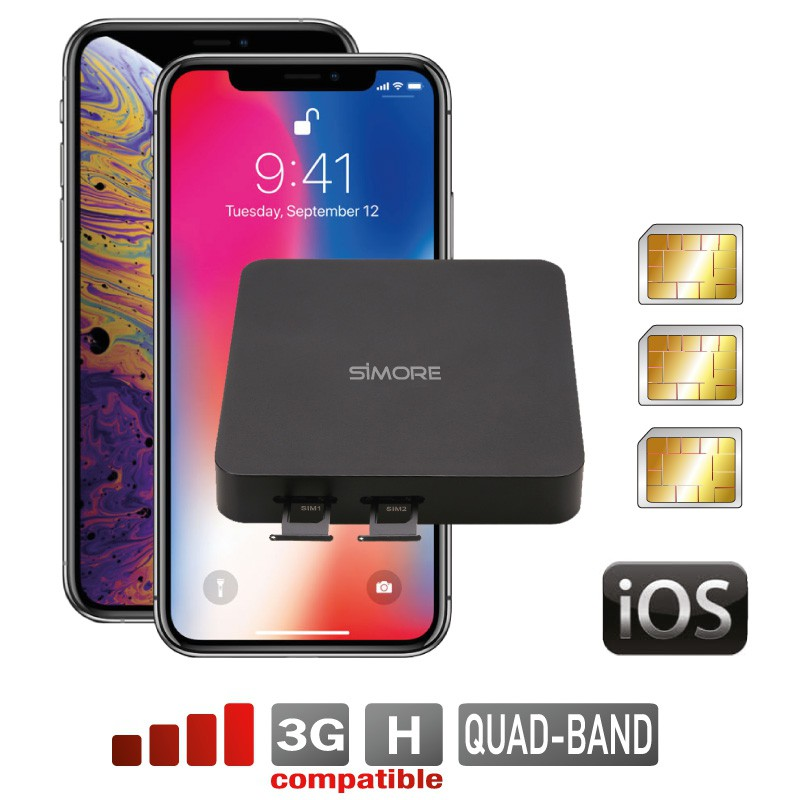 iPhone Doble SIM activas simultáneamente router Adaptador fijo convertidor DualSIM@home