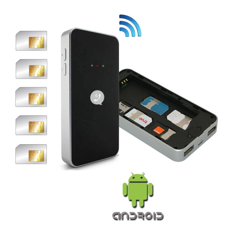 Power BlueBox Adaptador multi SIM activo para iPhone y smartphones Android