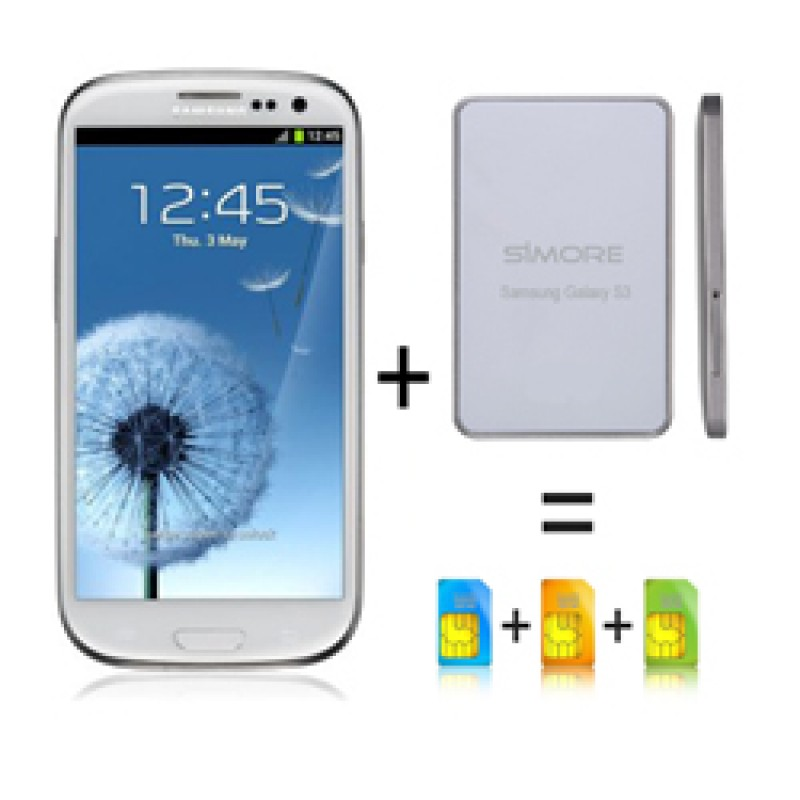 Galaxy BlueBox Adaptador triple doble tarjeta SIM bluetooth simultáneo para Samsung Android