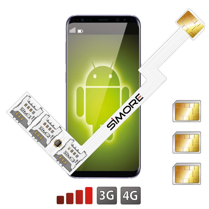 Adaptador Triple Doble SIM 4G Speed ZX-Triple para Android nano sim