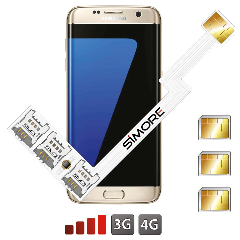 Galaxy S7 Edge Adaptador Triple Doble tarjeta SIM Android para Samsung Galaxy S7 Edge