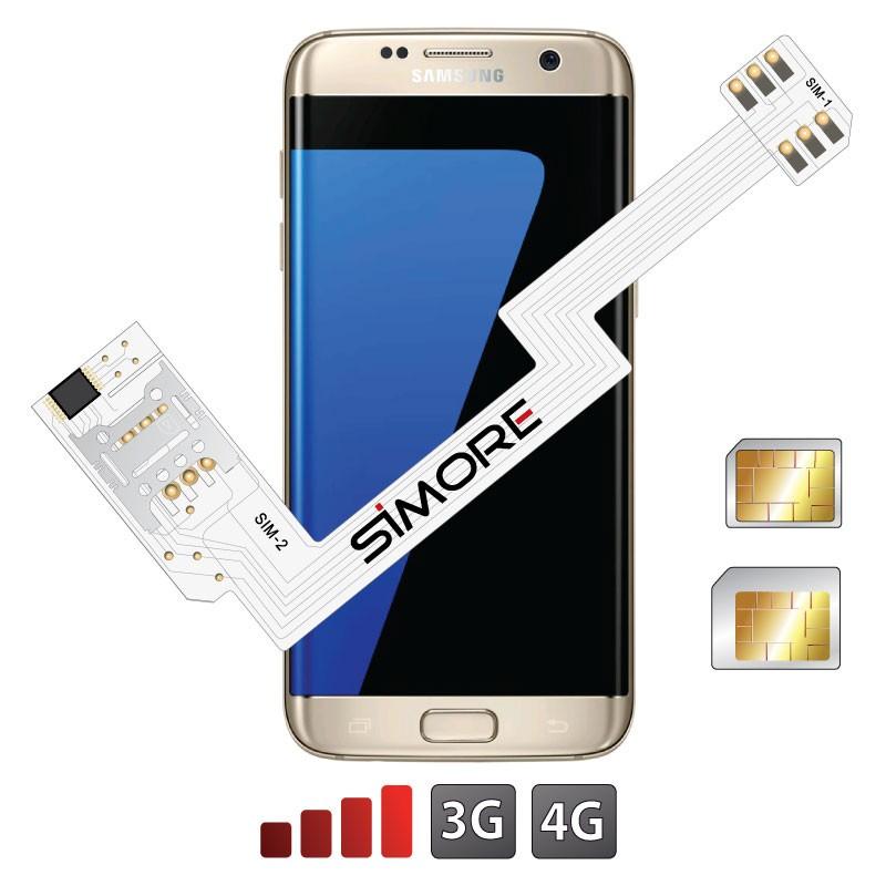 ZX-Twin Galaxy S7 Edge Adaptador doble tarjeta SIM 4G para Samsung Galaxy S7 Edge