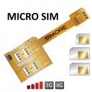X-Triple Micro SIM Adaptador triple doble tarjeta SIM para smartphones micro sim