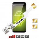 Doble SIM Android Adaptador Speed ZX-Twin Nano SIM