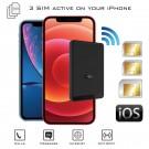 Doble SIM iPhone Adaptador Bluetooth Activas y hotspot Wi-Fi router con tres números al mismo tiempo para iPhone