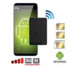 Adaptador Doble y Triple SIM attivas bluetooth y Wifi hotpost router para Android OS smartphones