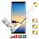 Galaxy Note8 Adaptador Triple Dual SIM Android para Samsung Galaxy Note8