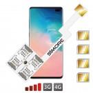 Galaxy S10+ Adaptador cuádruple Dual SIM Android para Samsung Galaxy S10+