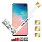 Galaxy S10+ Adaptador Triple Dual SIM Android para Samsung Galaxy S10+