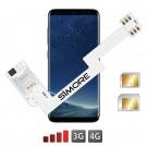 ZX-Twin Galaxy S8 Adaptador doble tarjeta SIM 4G para Samsung Galaxy S8