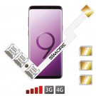 Triple Doble SIM adaptador para Galaxy S9