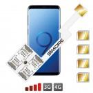 Galaxy S9+ Adaptador Cuádruple Dual SIM Android para Samsung Galaxy S9+