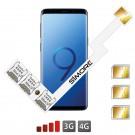 Galaxy S9+ Adaptador Triple Doble tarjeta SIM
