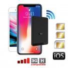 iPhone doble SIM y Triple SIM bluetooth adaptador y hotspot Wi-Fi router con tres números activos al mismo tiempo para iPhone