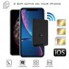 iPhone Doble SIM Bluetooth Activas Adaptador y hotspot Wi-Fi router con tres números al mismo tiempo para iPhone