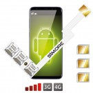 Adaptador Triple Doble SIM 4G Speed ZX-Triple para Android nano sim